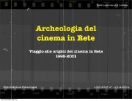 Archeologia del cinema in Rete