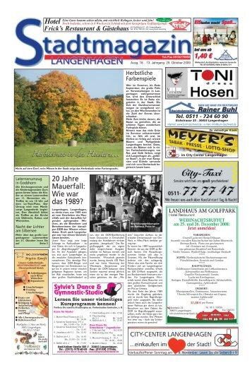 Stadtmagazin Langenhagen Ausgabe 18 vom 29. Oktober 2009
