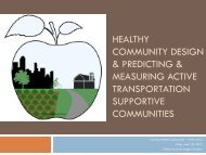 Healthy Community Design - American Planning Association ...