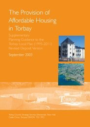 The Provision of Affordable Housing in Torbay - Torbay Council