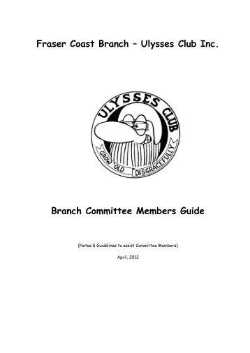 Frasercoast Member Guide - Fraser Coast Branch - Ulysses Club