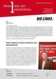 Newsletter - Fraktion DIE LINKE in Bremen