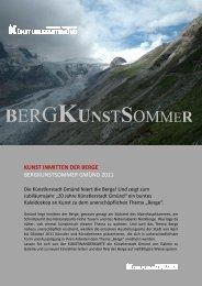 KUNST INMITTEN DER BERGE - Künstlerstadt Gmünd