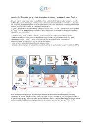 Hub de gestion de crise » : analyse du cas « Zotob » - Cert-IST