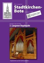 Kirchenvorstandswahl 2009 - Evangelische Stadtkirche Langen