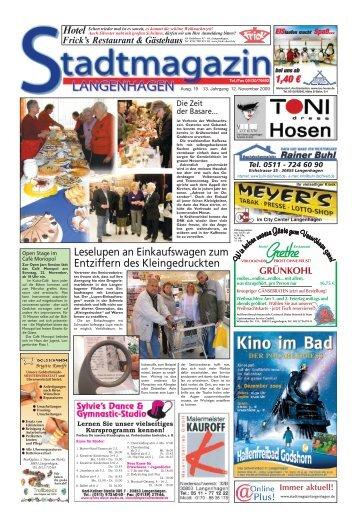Stadtmagazin Langenhagen Ausgabe 19 vom 12. November 2009