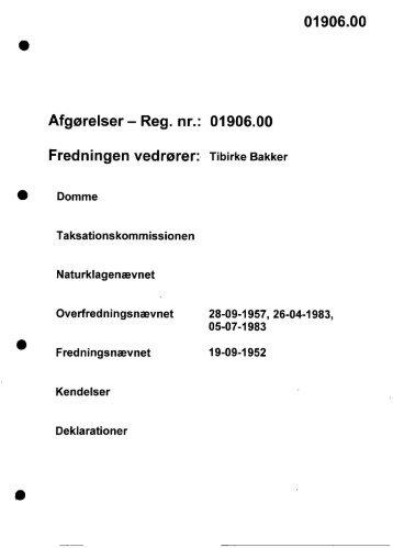 01906.00 Afgørelser - Reg. nr.: 01906.00 ... - Naturstyrelsen