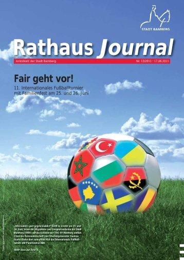 Rathaus Journal Nr. 13 vom 17.06.2011 - Stadt Bamberg