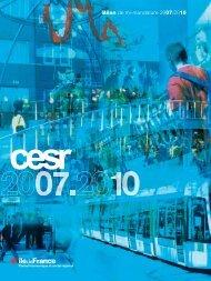 CESR Bilan2010.indd - CESER Ile-de-France