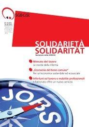 Mercato del lavoro - SGB - CISL