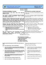 Muat turun borang aduan BNM - InsuranceInfo