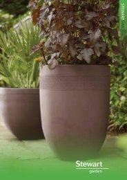 Stewart Garden Black Regency Hexagonal Plant Pot 40x40x33cm