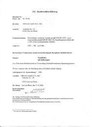 EG - Konformitätserklärung