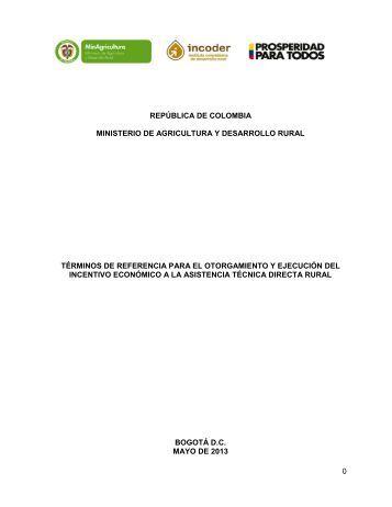 0 república de colombia ministerio de agricultura y desarrollo rural ...