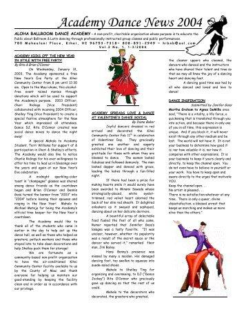 Academy Dance News 2004 - Aloha Ballroom