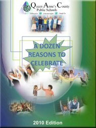 dozen good reasons to celebrate in qacps - Queen Anne's County ...