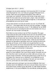De Bijbel open 2013 1 (05-01) Vandaag is het de eerste zaterdag in ...