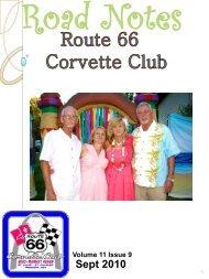 Road Notes Sept 2010 - website.pdf - Route 66 Corvette Club