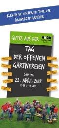 Tag der Offenen Gärtnereien - Stadt Bamberg