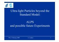 ALPS and possible future Experiments - Desy