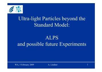 ALPS and possible future Experiments - Desy
