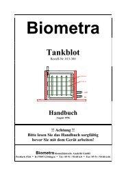Biometra Tankblot