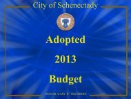 City of Schenectady 2013 Adopted Budget