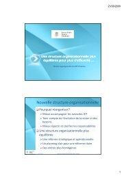 Nouvelle structure organisationnelle - IPM
