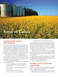 Focus on Canola - International Oil Mill Superintendents Association