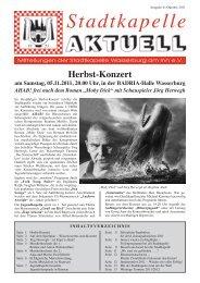 Ausgabe 41 / Okt. 2011 - Stadtkapelle Wasserburg am Inn eV