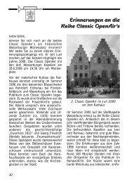 Das Programm im Classic OpenAir - Stadtkapelle Wasserburg am ...