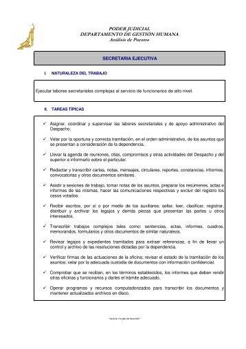 Secretaria Ejecutiva - Poder Judicial
