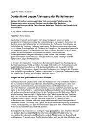 Deutschland gegen Alleingang der Palästinenser - Mützenich, Dr. Rolf