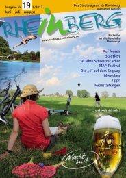 Ausgabe Nr. 19 - Stadtmagazin Rheinberg