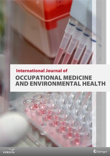 occupational medicine and environmental health - Versita