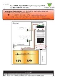 Anleitungen - 2A / 12V DC Energieversorgungseinheit