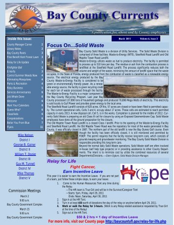 03-2011 Newsletter - Bay County Online