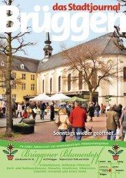 Sonntags wieder geöffnet ... - Stadtjournal Brüggen