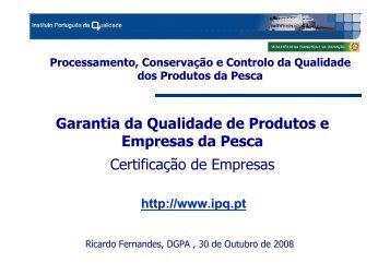 Consulte a comunicação deste Seminário...(pdf 315 KB) - IPQ