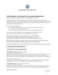 Appendix 2 - Utbildning, Göteborgs universitet