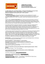 COMMUNIQUE DE PRESSE BRUSSELS DESIGN ... - VisitBrussels
