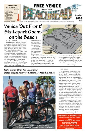 'Out Front' Skatepark Opens on the Beach - Free Venice Beachhead