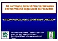 Fisiopatologia dello scompenso cardiaco - Università degli Studi ...