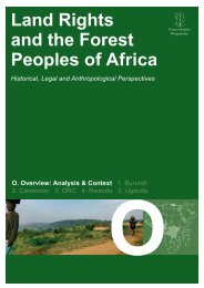 Land Rights and the Forest Peoples of Africa