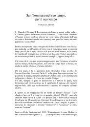 San Tommaso nel suo tempo, per il suo tempo - PortaleFilosofia.com