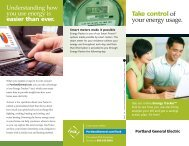 Take control of your energy usage. - Portland General Electric