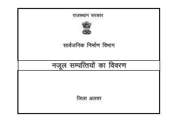 जिले की नजूल संपत्तियों का विवरण