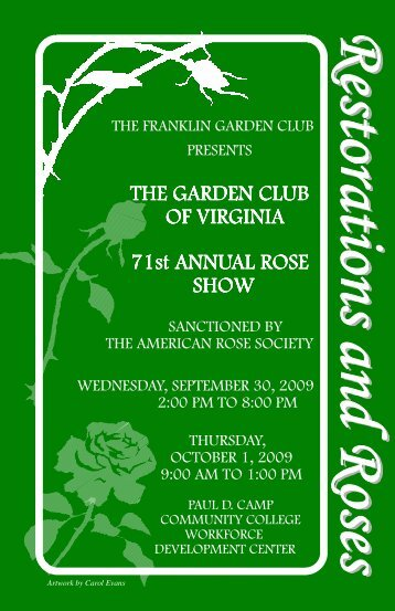 Schedule - Garden Club of Virginia