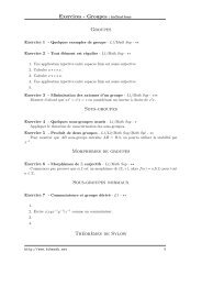 Exercices - Groupes : indications Groupes Sous-groupes ... - Bibmath