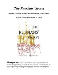 The Russians' Secret: What Christians Today Would ... - GOD'S WORD